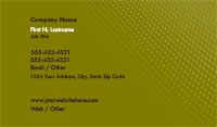 Green Gradient Business Card Template